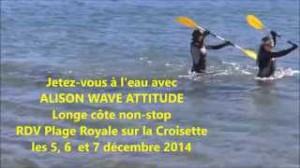 TELETHON 2014 : jetez-vous à l'eau avec ALISON WAVE ATTITUDE