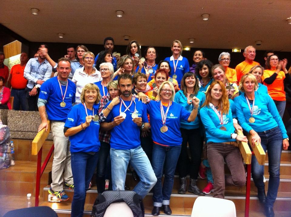 Les champions de France méditerranéen au 1er championnat de France de Longe côte