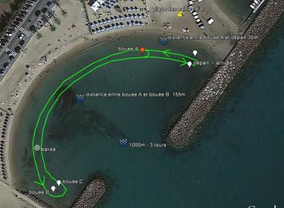 parcours 1000m championnat plage des sables d'or_last